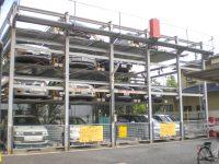 機械式駐車場塗装工事-02